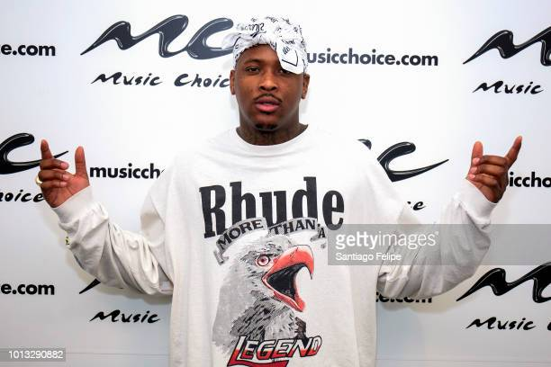 YG visits Music Choice on August 8 2018 in New York City