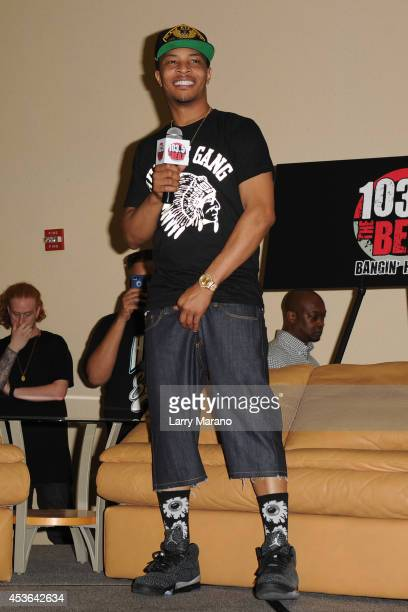 I visits radio station 1035 The Beat on August 14 2014 in Miami Florida