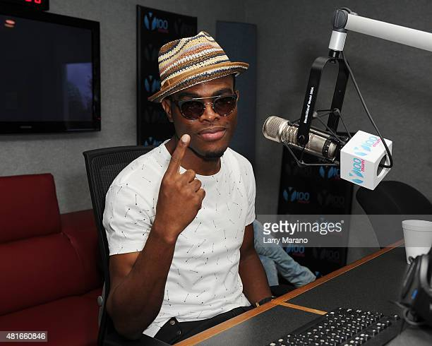 OMI visits Radio Station Y100 on July 22 2015 in Miami Florida