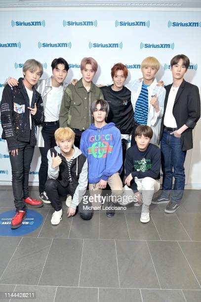NCT 127 visits SiriusXM Studios on April 22 2019 in New York City