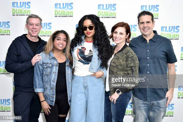 HER visits The Elvis Duran Z100 Morning Show at Z100 Studio on April 3 2019 in New York City
