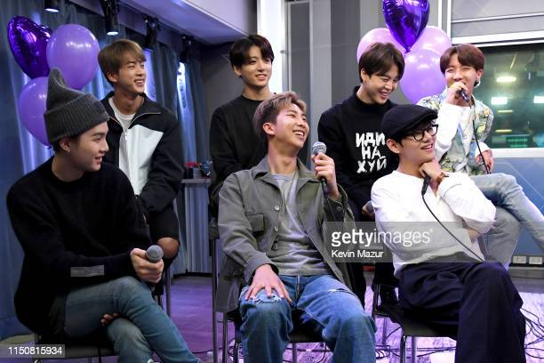 BTS visits The Morning Mash Up on SiriusXM Hits 1 Channel at SiriusXM Studios on May 21 2019 in New York City