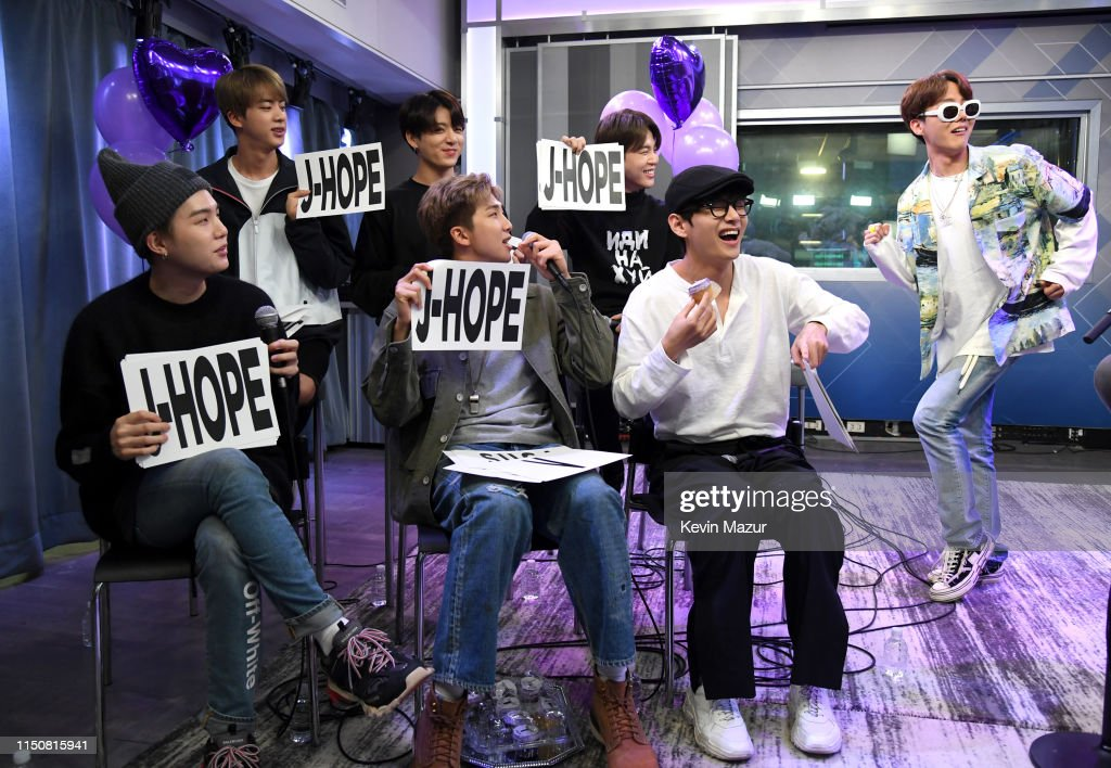 "NY: BTS Visits ""The Morning Mash Up"" On SiriusXM Hits 1 Channel At The SiriusXM Studios In New York City"