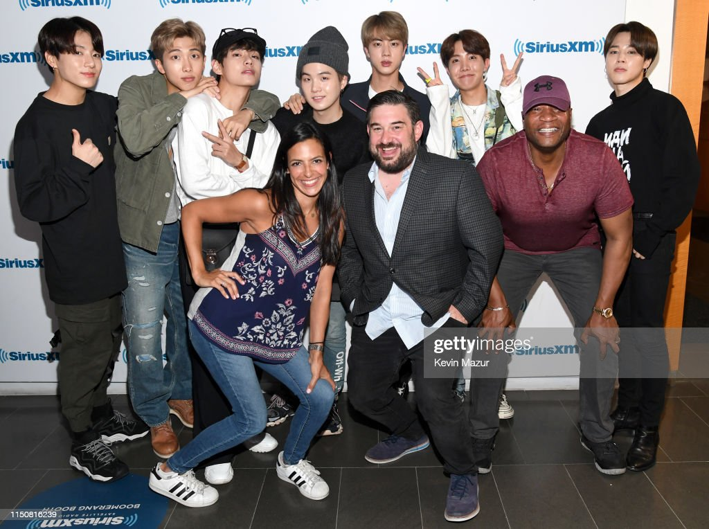 "BTS Visits ""The Morning Mash Up"" On SiriusXM Hits 1 Channel At The SiriusXM Studios In New York City : News Photo"