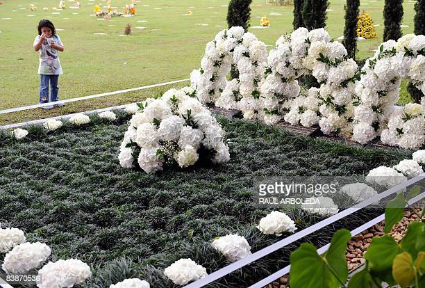 Visits the tombstone of Colombian drug lord Pablo Escobar on December 1 in Medellin, Antioquia department, Colombia, on the anniversary of his birth....