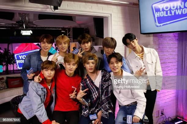 NCT 127 visits the Young Hollywood Studio on May 1 2017 in Los Angeles California