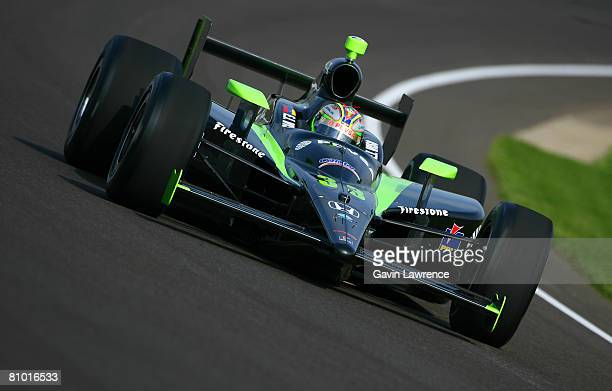 J Viso driving the PDVSA HVM Racing Dallara Honda during practice for the IRL IndyCar Series 92nd running of the Indianapolis 500 on May 6 2008 at...