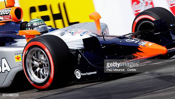 EJ Viso in the PDVSA HVM Racing car during qualifying for the IZOD Indycar Series event at the Long Beach Grand Prix
