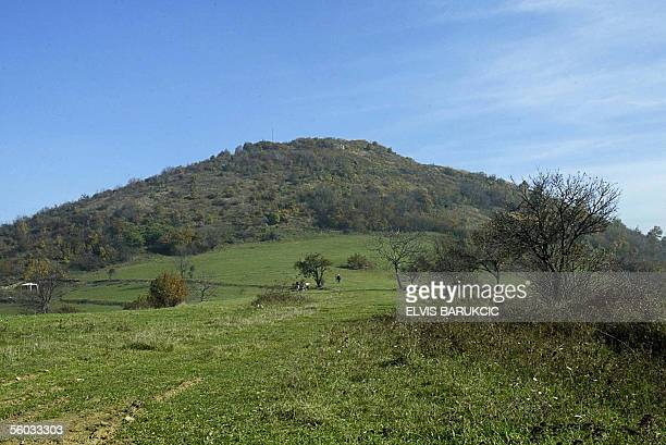 Visocica hill near the Central Bosnian town of Visoko 25 October where Bosnian explorer Semir Osmanagic expects to find remains of an ancient pyramid...