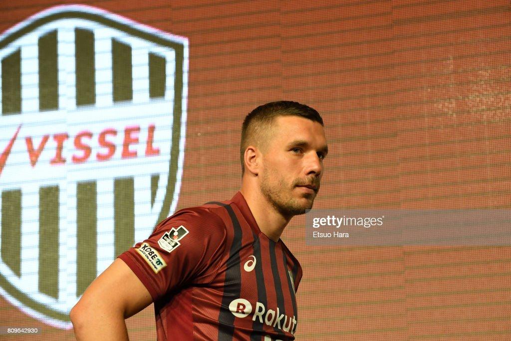 Vissel Kobe Introduces New Player Lukas Podolski : ニュース写真