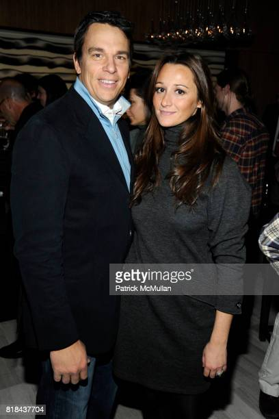 Vissicchio and Alexandra Osipow attend ANDAZ WALL STREET Housewarming Party at Andaz Wall Street on January 11 2010 in New York City