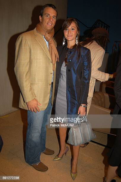 Vissicchio and Alexandra Osipow attend Madison Avenue Where Fashion Meets Art Presents Matt Dilling at TSE Cashmere at TSE Boutique on April 28 2005...