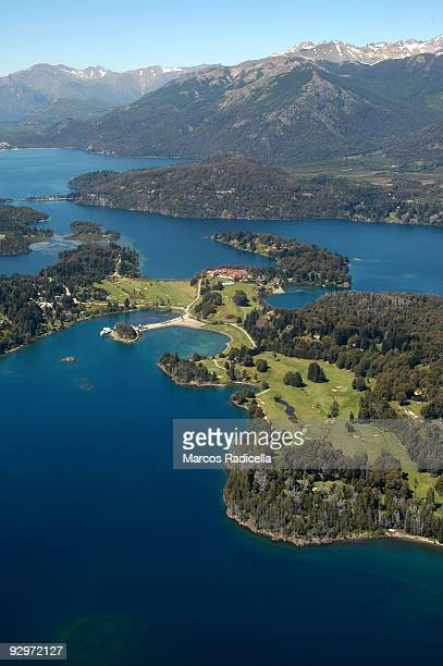 vista aerea de bariloche - radicella stock pictures, royalty-free photos & images