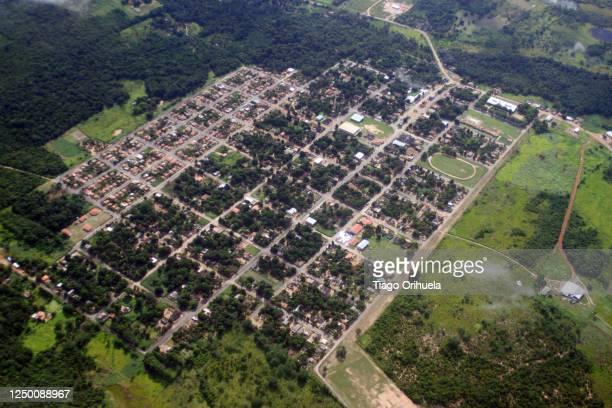 vista aérea do município do cantá - vista aérea stock pictures, royalty-free photos & images