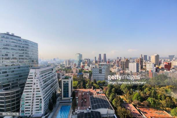 vista of buildings in polanco - mexico city, mexico - mexico city stock pictures, royalty-free photos & images