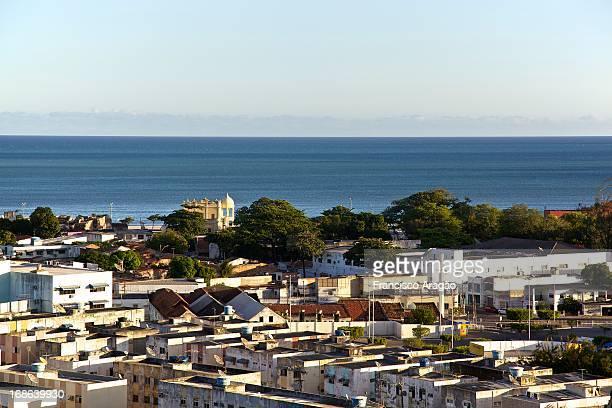 vista parcial aérea de maceió, alagoas - vista aérea stock pictures, royalty-free photos & images