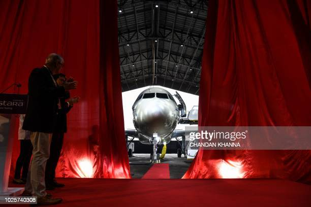 Vistara's new Airbus A320neo is unveiled at the Indira Gandhi International Airport in New Delhi on September 1 2018 Bargainbasement fares high oil...