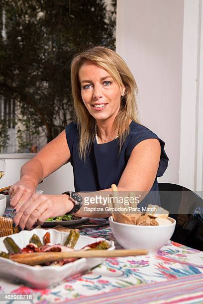 Visual artist and wife of Economist and Finance Minister for the Greek government Yanis Varoufakis Danae Stratou is photographed at their home for...