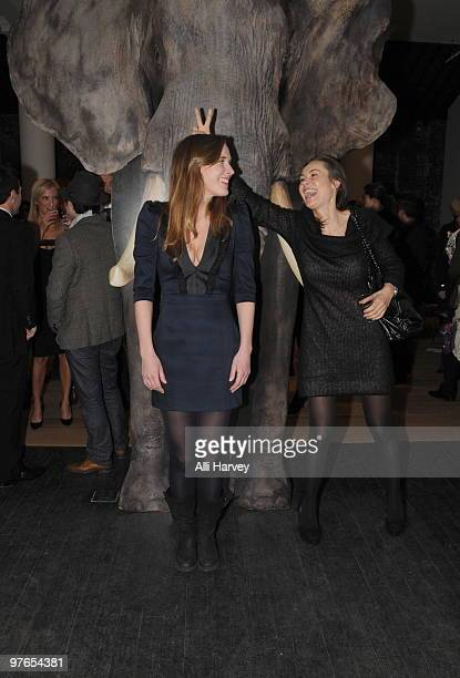 Visual artist Lies Maculan and Beata Bohman attend the opening of Lies Maculan's popup art installation The Dream Shop on March 11 2010 in New York...