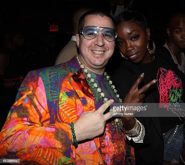 Visual artist Noah G Pop and singer Estelle attend Maxwell's concert after party at Marquee Club on September 28 2009 in New York City