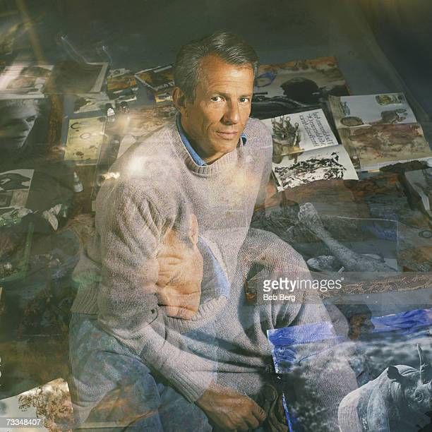 Visual artist Peter Beard sits for a 1995 portrait in New York City New York