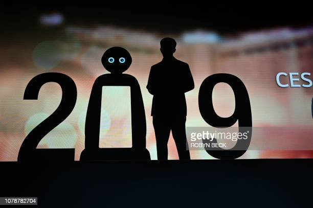 A visual at the LG press conference at the Mandalay Bay Convention Center during CES 2019 in Las Vegas on January 7 2019