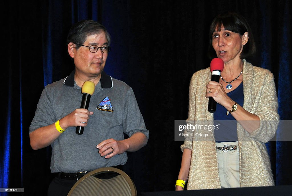Visual effects artist Michael Okuda and Denise Okuda attend Creation Entertainment's Grand Slam Convention: The Star Trek And Sci-Fi Summit held at Burbank Marriott Convention Center on February 16, 2013 in Burbank, California.