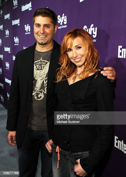 Visual Effects Artist Tory Belleci and TV Personality Kari Byron attend the EW and SyFy party during ComicCon 2010 at Hotel Solamar on July 24 2010...