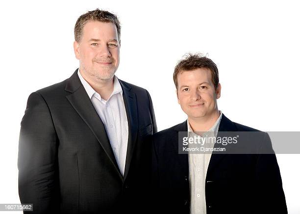 Visual Effects Artists Guy Williams and Jeff White pose for a portrait during the 85th Academy Awards Nominations Luncheon at The Beverly Hilton...