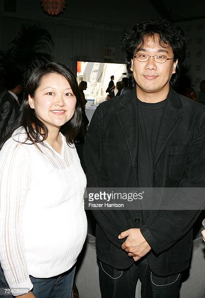 "Visual Effects producer Kymber Lim and writer/director Joon-ho Bong pose at the Audi party for ""The Host"" during AFI FEST 2006 presented by Audi held..."