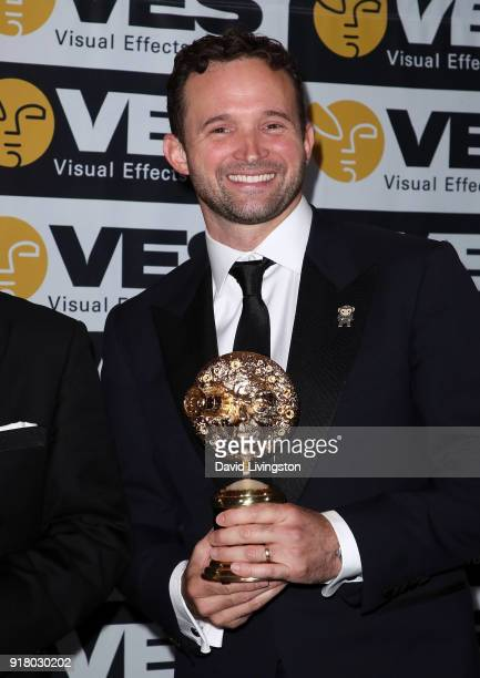 Visual effects supervisor Dan Lemmon attends the press room at the 16th Annual VES Awards at The Beverly Hilton Hotel on February 13 2018 in Beverly...
