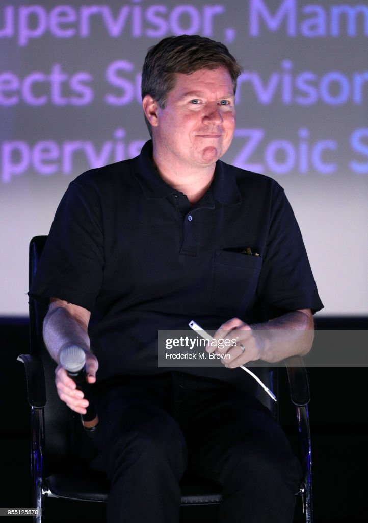 Visual Effects Supervisor Greg Liegey speaks onstage at the 2018 Film In California Conference at Los Angeles Center Studios on May 5, 2018 in Los Angeles, California.