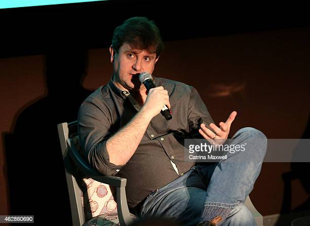 Visual effects supervisor Kevin Blank speaks on the Visual Effects for Television pannel during aTVfest presented by SCAD on February 6 2015 in...