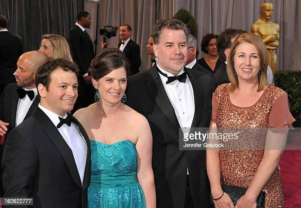 Visual Effects Supervisor Martin Hill and Clay Williams attend the 85th Annual Academy Awards at Hollywood Highland Center on February 24 2013 in...