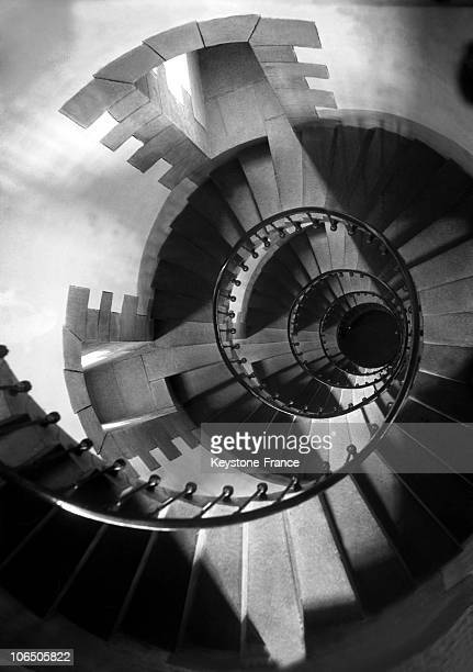 Visual Illusion With A Shot From The Top At The Spiral Staircase On November 1933
