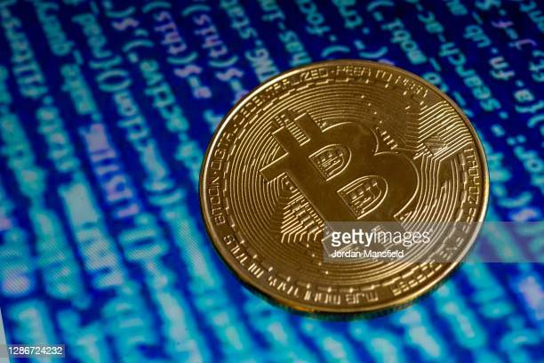 Visual representation of the cryptocurrency Bitcoin on November 20, 2020 in London, England. The price of Bitcoin has risen sharply in the the last...