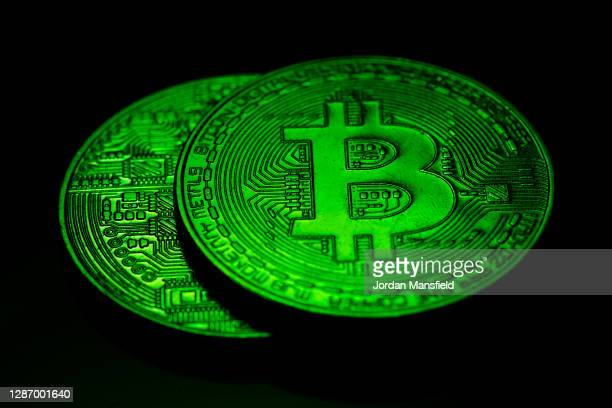 Visual representation of the cryptocurrency Bitcoin on November 21, 2020 in London, England. The price of bitcoin has risen sharply in the the last...
