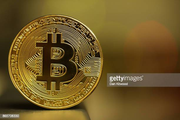 A visual representation of the digital Cryptocurrency Bitcoin on October 23 2017 in London England Cryptocurrencies including Bitcoin Ethereum and...