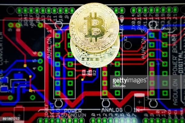 A visual representation of the digital Cryptocurrency Bitcoin experienced price falls $1000 in Minutes to drop below $10k on November 30 2017 in Hong...