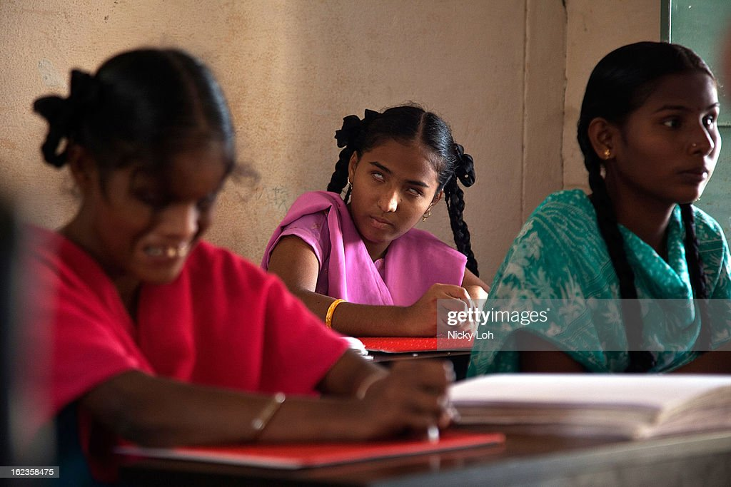 Visually impaired students write in Braille with slates at the Government High School for The Blind on February 22, 2013 in Kadapa, India. The school which is funded by the government looks after 50 visually impaired or blind students. India has the largest number of people with visual impairment globally. According to the World Health Organization (WHO), an estimated 63 million people in India are visually impaired, and of these approximately 8 million people are blind.