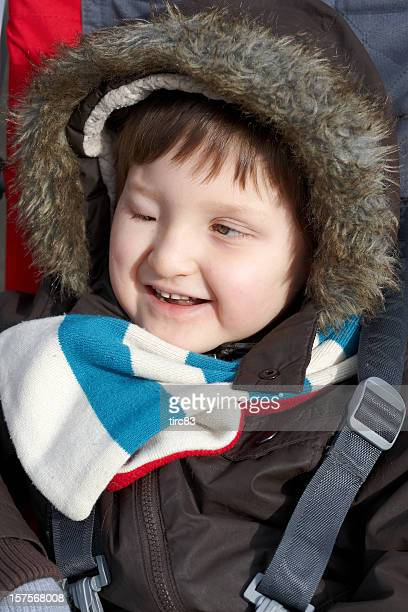 Visually impaired youngster portrait