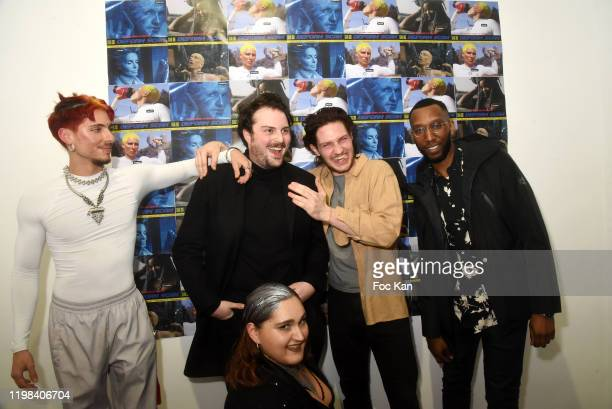 Visuel artist painter Octave Lauret musician Vladimir Seguin Rap artist Nelson Delapalme from Deform Scanband Michel Yakou and Carlotta Herisanu...