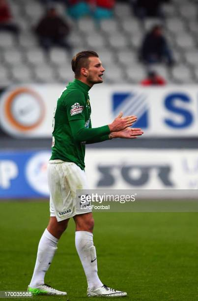 Vit Benes of FK Jablonec in action during the Czech First League match between FK Jablonec and SK Sigma Olomouc held on May 26, 2013 at the Chance...