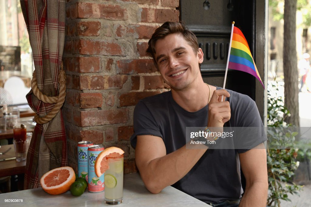 Antoni Porowski And Vita Coco Celebrate The Launch Of Vita Coco Sparkling And The Free Rides At NYC Pride In The West Village : News Photo