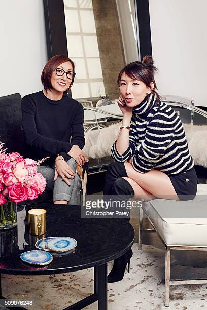 Vita Fede designer Cynthia Sakai is photographed in her office space newly designed by and style blogger Aimee Song is photographed for Domaine Home...