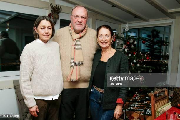 Vita founder Tatjana Kreidler, Erhard Priewe and German actress Daniela Ziegler during the Vita Christmas Party on December 17, 2017 in UNSPECIFIED,...