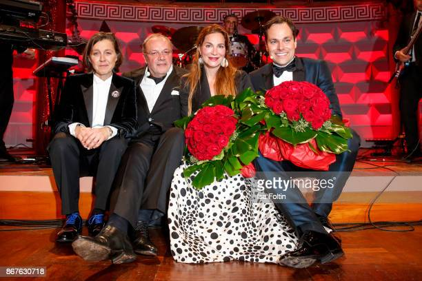 Vita founder Tatjana Kreidler Erhard Priewe German actress Alexandra Kamp and German presenter Daniel Fischer during the 8th VITA Charity Gala on...