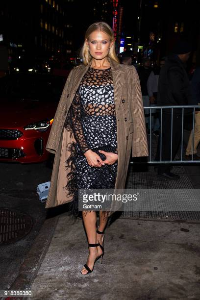 Vita Sidorkina attends the Sports Illustrated Swimsuit 2018 launch event at the Moxie Hotel on February 14 2018 in New York City