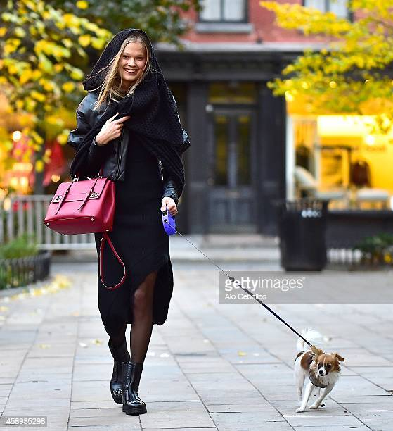 Vita Sidorkina is seen in the West Village on November 14 2014 in New York City