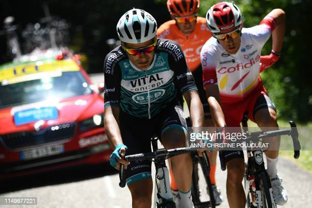 Vital Concept B&B Hotels rider France's Yoann Bagot , Cofidis, Solutions Credits rider France's Stephane Rossetto and CCC Team rider Italy's...